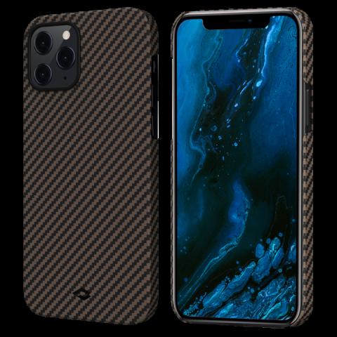 """Кевларовый чехол Pitaka MagEZ Case для iPhone 12 Pro Max  6.7"""", черно-коричневый"""