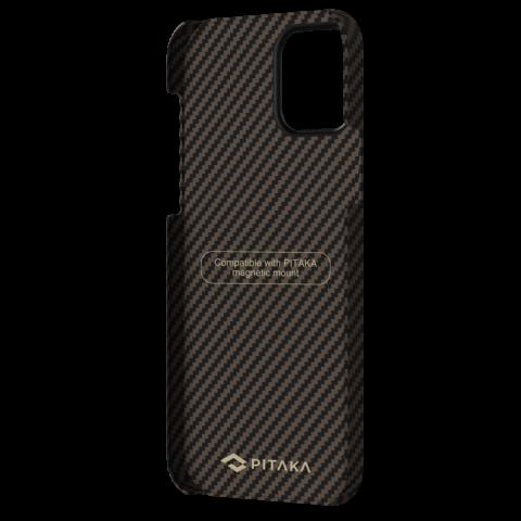 """Кевларовый чехол Pitaka MagEZ Case для iPhone 12 Pro 6.1"""", черно-коричневый"""