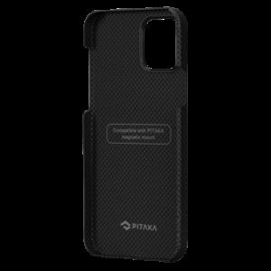"""Кевларовый чехол Pitaka MagEZ Case для iPhone 12 mini 5.4"""", черно-серый шахматное плетение"""