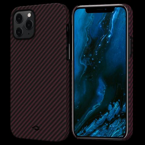 """Кевларовый чехол Pitaka MagEZ Case для iPhone 12 Pro  6.1"""", черно-красный"""