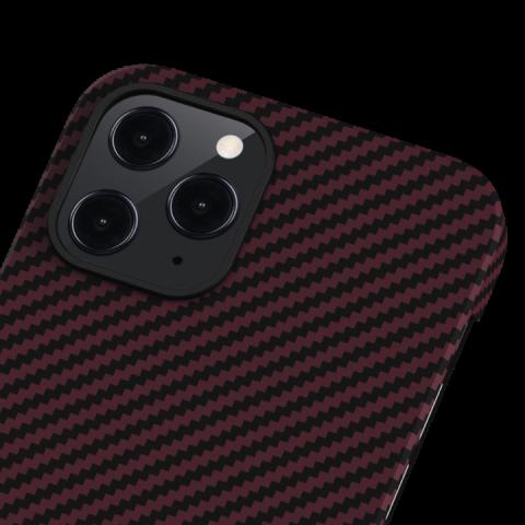 """Кевларовый чехол Pitaka MagEZ Case для iPhone 12 6.1"""", черно-красный"""