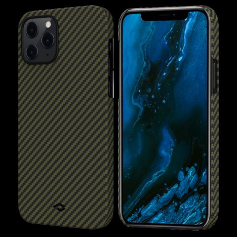 """Кевларовый чехол Pitaka MagEZ Case для iPhone 12 Pro Max  6.7"""", черно-зеленый"""