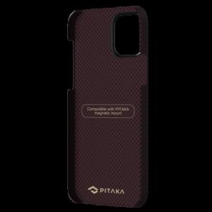 """Кевларовый чехол Pitaka MagEZ Case для iPhone 12 mini 5.4"""", черно-красный шахматное плетение"""