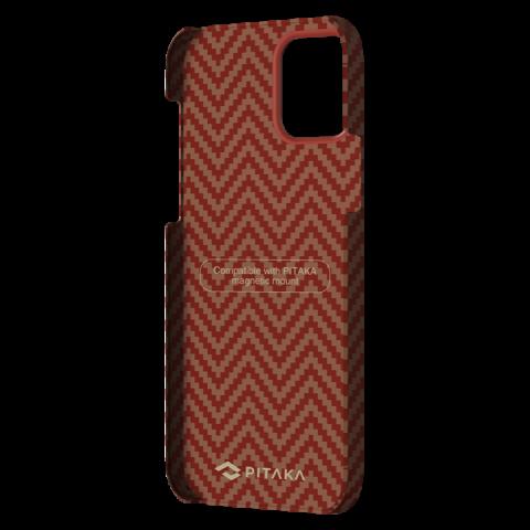 """Кевларовый чехол Pitaka MagEZ Case для iPhone 12 Pro Max  6.7"""", красно-оранжевый"""