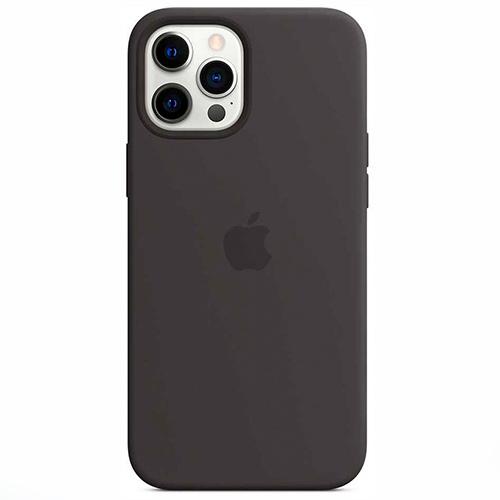"""Чехол Silicon Case для iPhone 12 Pro Max (6.7"""") черный"""