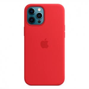 """Чехол Silicon Case для iPhone 12 Pro Max (6.7"""") красный"""