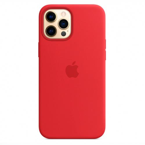 """Чехол Silicon Case для iPhone 12/12 Pro (6.1"""") красный"""