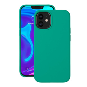 "Cиликон чехол Deppa Liquid Silicone Case для iPhone 12 Mini (5.4"") зеленый"