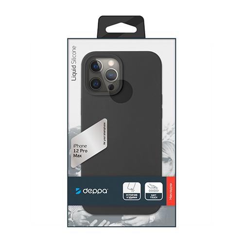 "Cиликон чехол Deppa Liquid Silicone Case для iPhone 12 Pro Max (6.7"") черный"