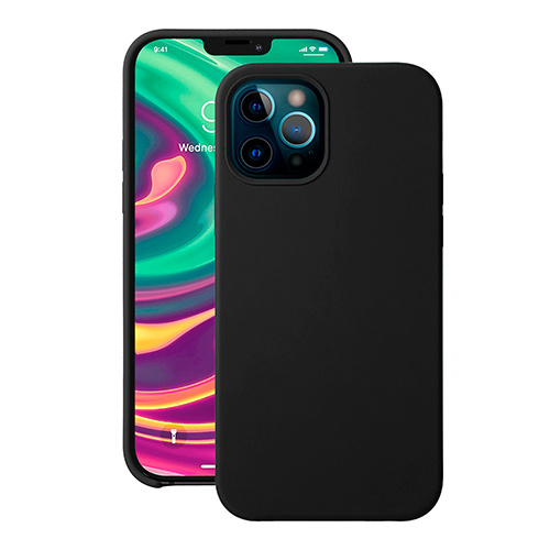"""Cиликоновый чехол Deppa Liquid Silicone Case для iPhone 12/ 12 Pro (6.1"""") черный"""