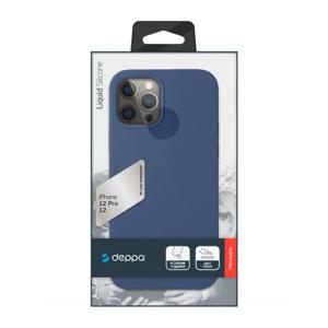 """Cиликоновый чехол Deppa Liquid Silicone Case для iPhone 12/ 12 Pro (6.1"""") синий"""