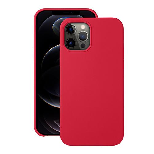 """Cиликоновый чехол Deppa Liquid Silicone Case для iPhone 12/ 12 Pro (6.1"""") красный"""