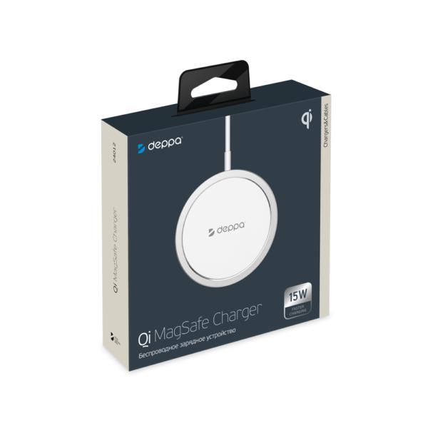 Беспроводное зарядное устройство Deppa MagSafe, Qi 15W
