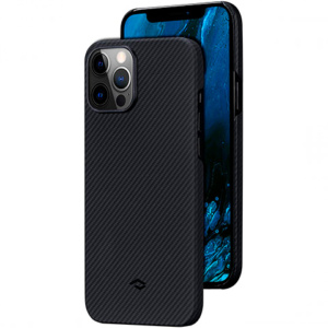 "Кевларовый чехол Pitaka Air Case Twil для iPhone 12 Pro 6.1"", черно-серый"