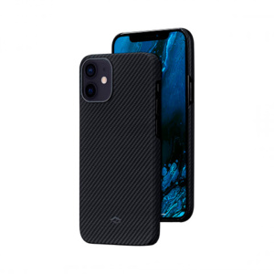 "Кевларовый чехол Pitaka Air Case Twil для iPhone 12 mini 5.4"", черно-серый"