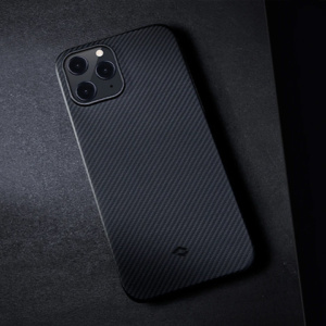"Кевларовый чехол Pitaka Air Case Twil для iPhone 12 Pro 6.1"", черно-серый"