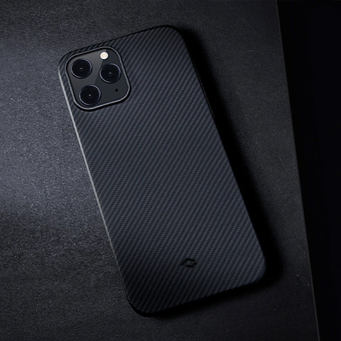 "Кевларовый чехол Pitaka Air Case Twil для iPhone 12 mini 5.4"", черно-серый"