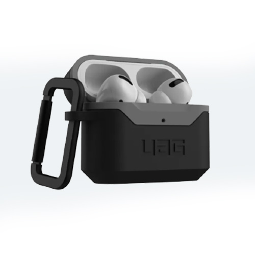 Противоударный чехол UAG Airpods Pro Hardcase V2, черный-серый (Black/Grey)