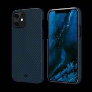 """Кевларовый чехол Pitaka MagEZ Case для iPhone 12 6.1"""", черно-синий"""