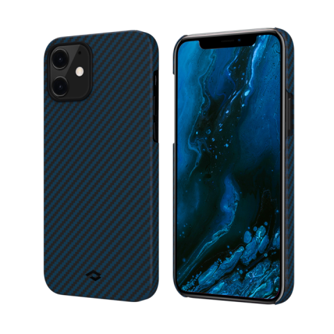 "Кевларовый чехол Pitaka MagEZ Case для iPhone 12 mini 5.4"", черно-синий"
