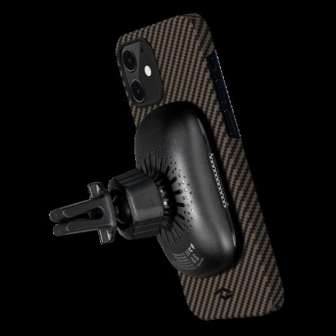 """Кевларовый чехол Pitaka MagEZ Case для iPhone 12 mini 5.4"""", черно-коричневый"""