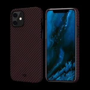 """Кевларовый чехол Pitaka MagEZ Case для iPhone 12 mini 5.4"""", черно-красный"""