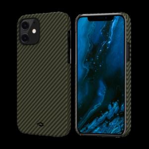 """Кевларовый чехол Pitaka MagEZ Case для iPhone 12 mini 5.4"""", черно-зеленый"""