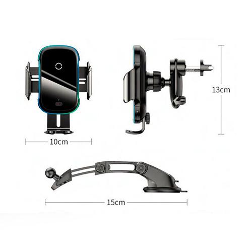 Автомобильный держатель для телефона с беспроводной зарядкой Baseus Light Electric 15W