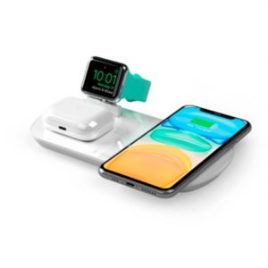 Беспроводное зарядное устройство Deppa Qi 3 в 1: Qi, Apple Watch, Airpods 17.5W