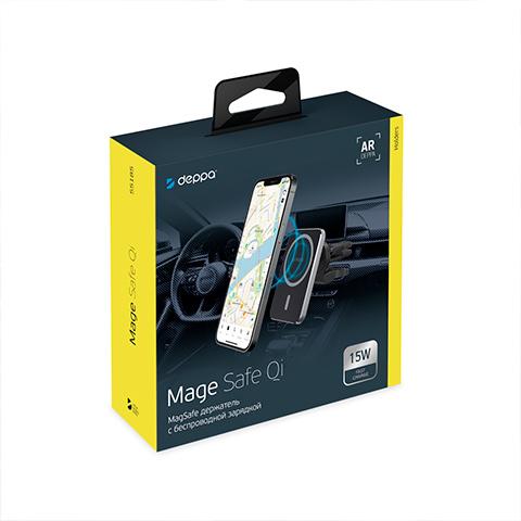 Автомобильный держатель  с зарядкой Deppa Mage Safe Qi