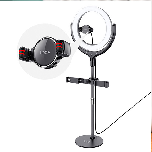 Кольцевая лампа настольная Hoco LV01 Rouge Desktop Fill Light