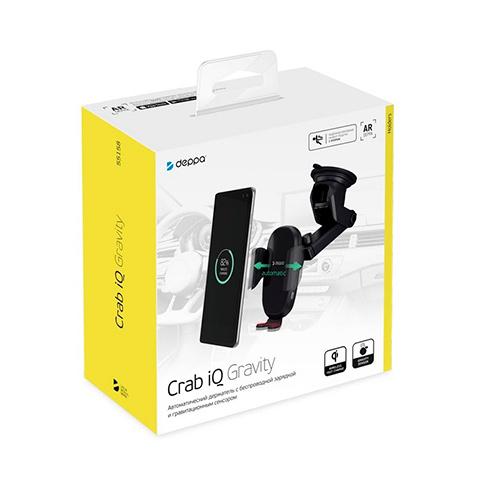"""Автомобильное беспроводное зарядное устройство Deppa Crab Qi 3.5""""-5.9"""