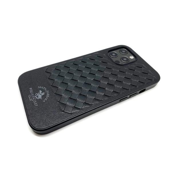 Чехол накладка Santa Barbara Ravel для Apple iPhone 12/12 Pro черный