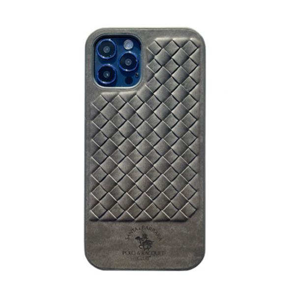 Чехол накладка Santa Barbara Ravel для Apple iPhone 12/12 Pro серый