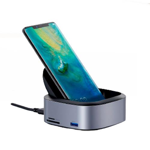 Док-станция с концентратором для телефонов USB Type-C Baseus Mate Docking (CAHUB-S0G)