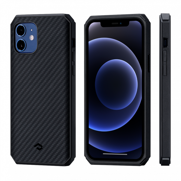 "Чехол Pitaka MagEZ Case Pro 2 для iPhone 12 mini 5.4"", черно-серый"