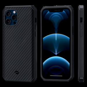"""Чехол Pitaka MagEZ Case Pro 2 для iPhone 12/12 Pro 6.1"""", черно-серый"""