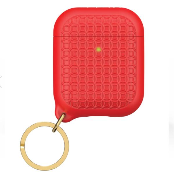 Защитный чехол Catalyst Keyring Case для AirPods 1/2 красный (Flame Red)