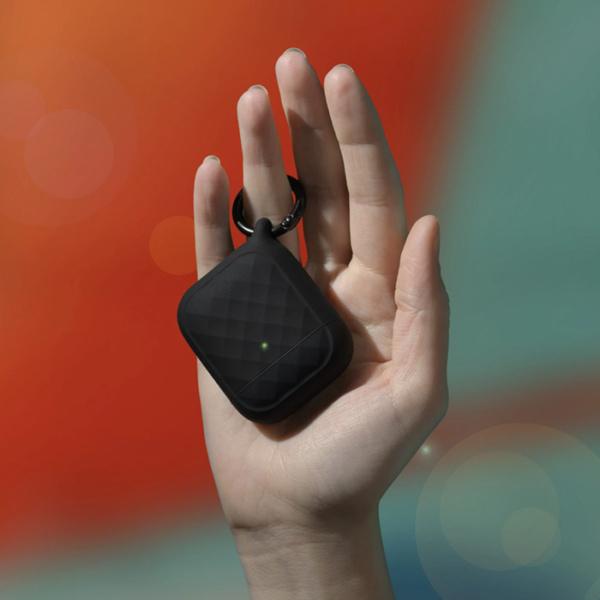 Защитный чехол Catalyst Ring Clip Case для AirPods 1/2, черный (Stealth Black)