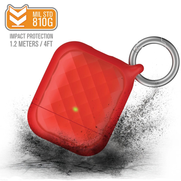 Защитный чехол Catalyst Ring Clip Case для AirPods 1/2 красный (Flame Red)