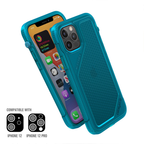 "Противоударный чехол Catalyst Vibe Series Case для iPhone 12 Pro/12 6.1"", голубой (Bondi Blue)"