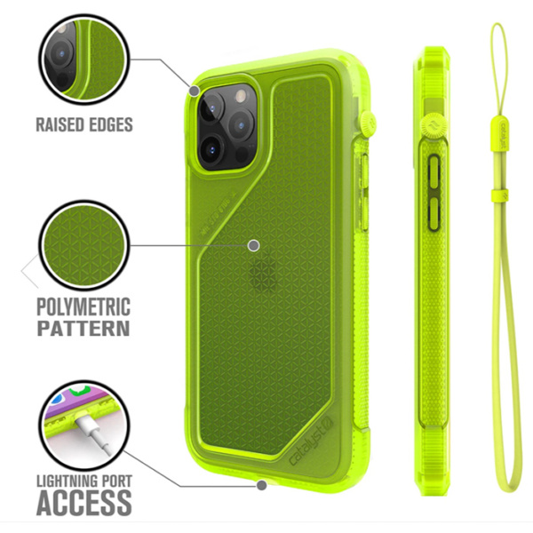 "Противоударный чехол Catalyst Vibe Series Case для iPhone 12 Pro/12 6.1"", желтый неон (Neon Yellow)"