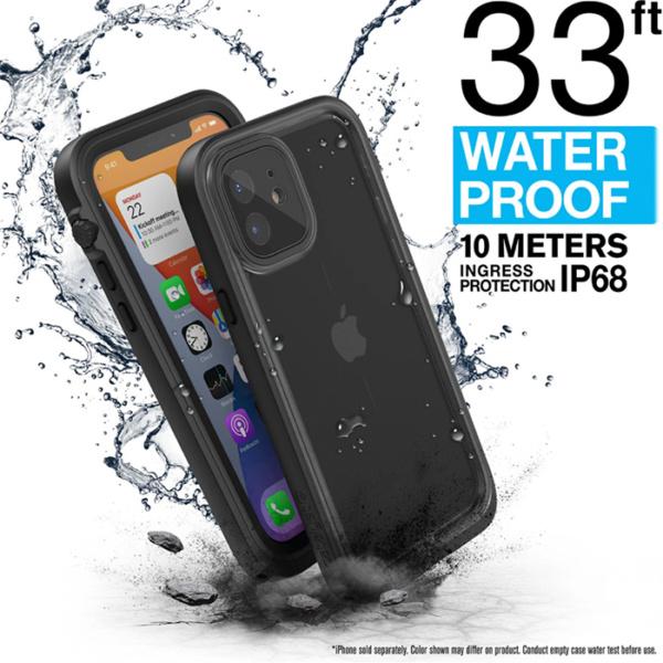 "Водонепроницаемый чехол Catalyst Waterproof Case for iPhone 12 mini 5.4"", черный (Stealth Black)"