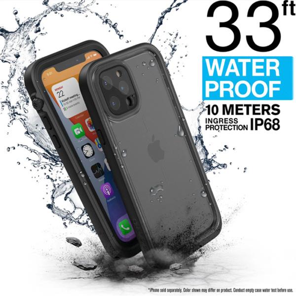 "Водонепроницаемый чехол Catalyst Waterproof Case for iPhone 12 Pro Max 6.7"", черный (Stealth Black)"