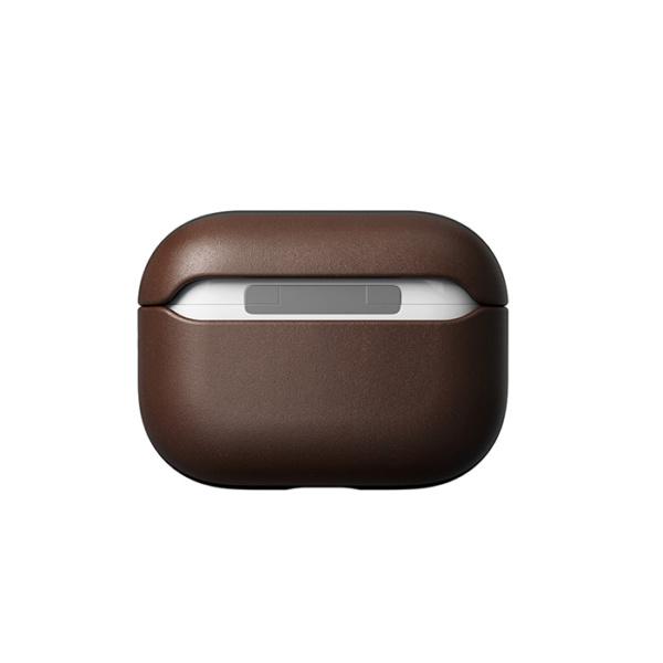 Кожаный чехол Nomad Rugged Case для Airpods Pro, коричневый