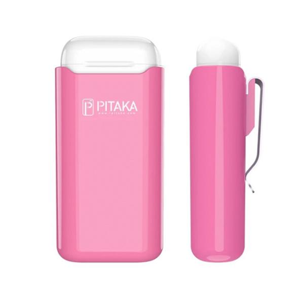 Чехол Pitaka Air Pal 1200mAh для AirPods/AirPods II, розовый