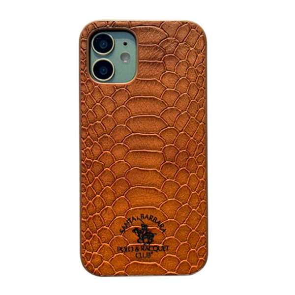 Чехол накладка Santa Barbara Knight для Apple iPhone 12 mini коричневый