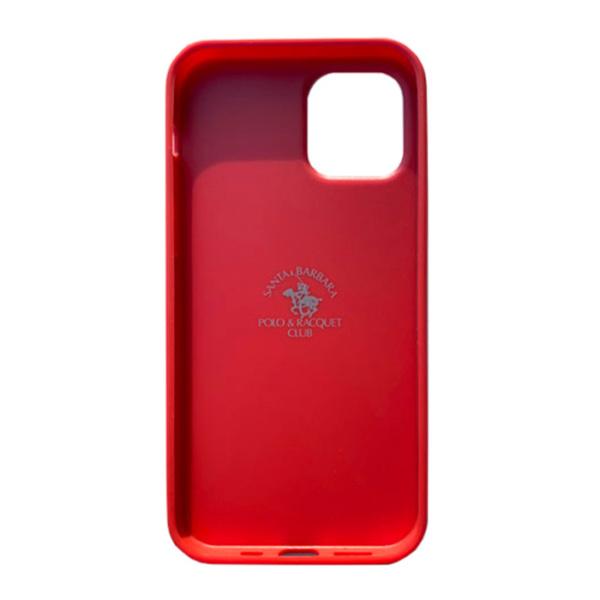 Чехол накладка Santa Barbara Knight для Apple iPhone 12 mini красный