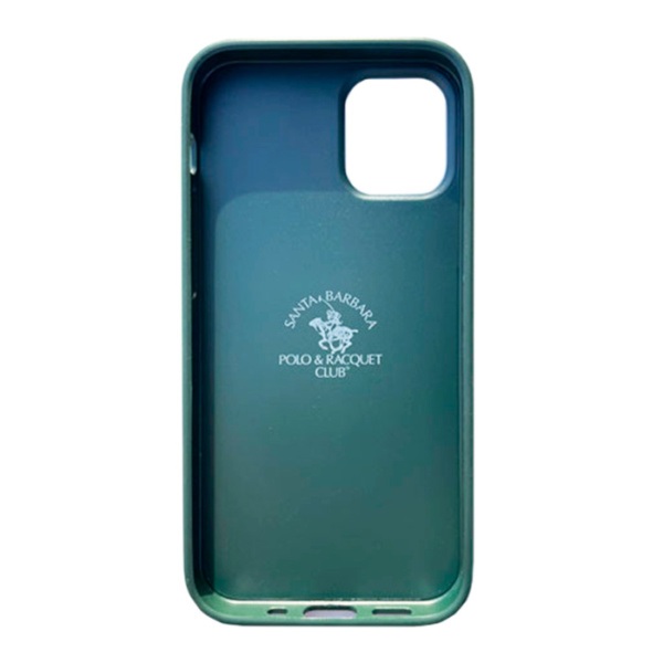 Чехол накладка Santa Barbara Knight для Apple iPhone 12/12 Pro зеленый
