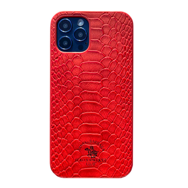 Чехол накладка Santa Barbara Knight для Apple iPhone 12/12 Pro красный